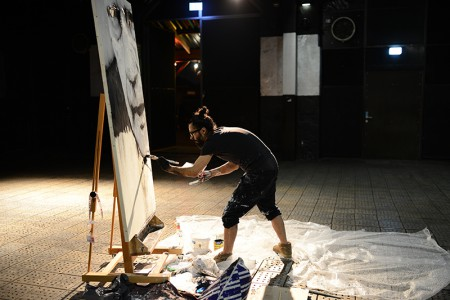 "action painting ""Peter"" BERLINER LISTE"