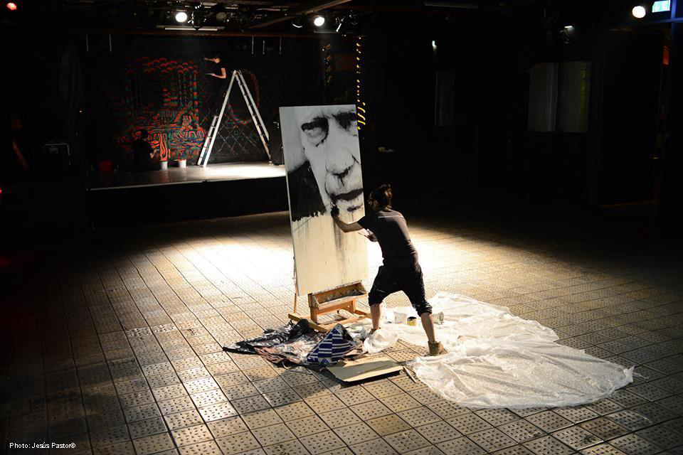 action painting «Peter» BERLINER LISTE