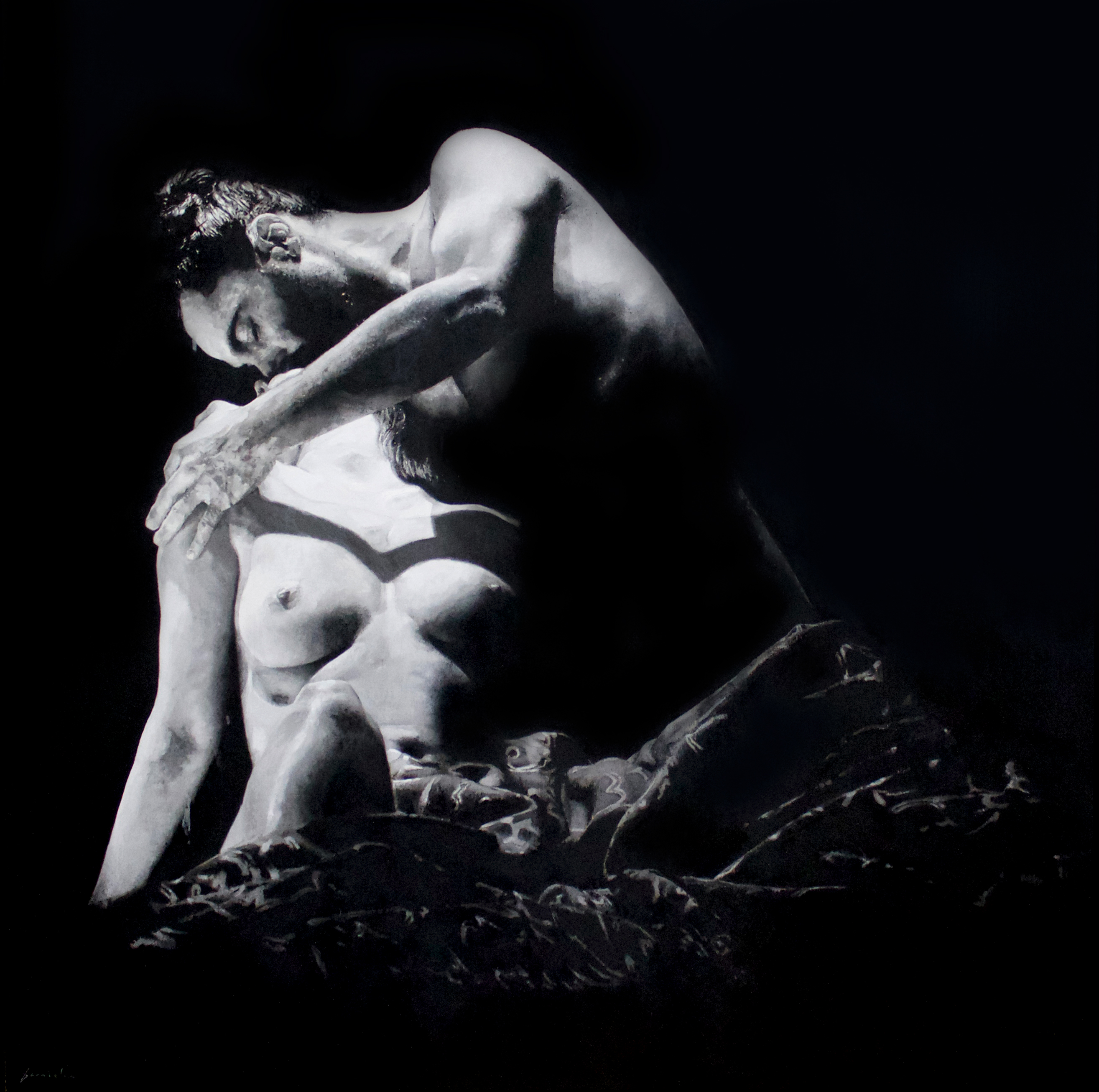 Samsons Küsse bei Dalila 100x100