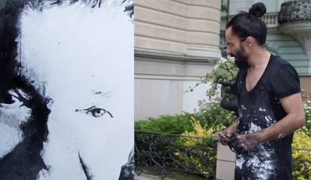 Action Painting «karel» (Karel Gott´s Portrait) Galavečer pro Nadační fond Slunce in Le Palais Art Hotel
